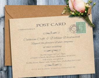 Wedding invitation stamp Etsy UK
