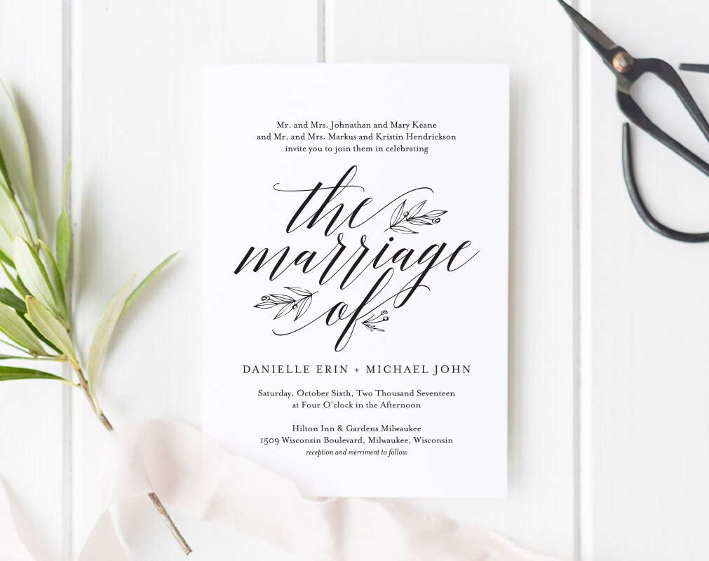 Free Rustic Wedding Invitation Templates: Wedding Invitation Template Rustic Wedding Invitation