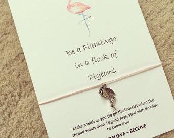 be a flamingo  wish bracelet
