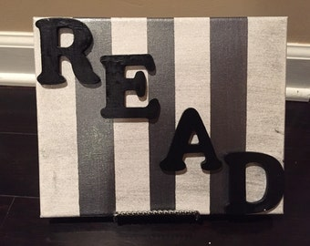 Canvas art for reading