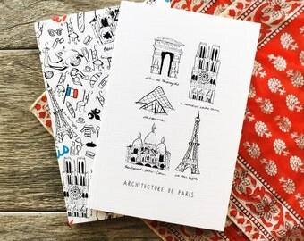 Paris Journal, Paris Planner, Paris Notebook Set, Paris Travel Notebook