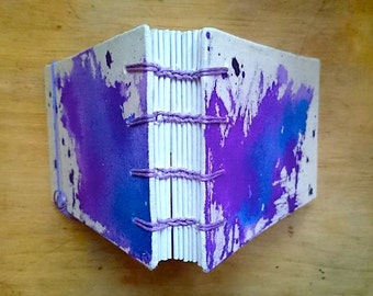 Small watercolour notebook/ sketchbook - purple