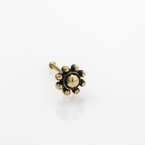 Tiny flower nose stud. nose ring. nose piercing. indian nose stud. nose jewelry. nose stud gold. nose stud. nose ring stud. flower nose stud