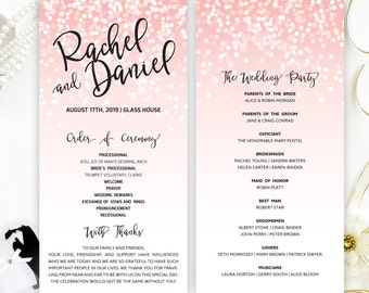 Printed Programs For Wedding Blue Lace Ceremony