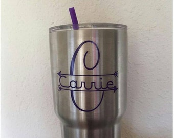 Yeti Decal | Yeti Rambler Decal | Yeti Tumbler Decal | Ozark Tumbler Decal | Split Letter with arrows for Yeti Cup | Ozark Decal |