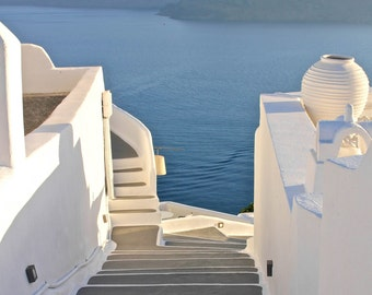 Santorini Staircase | Greece Photography