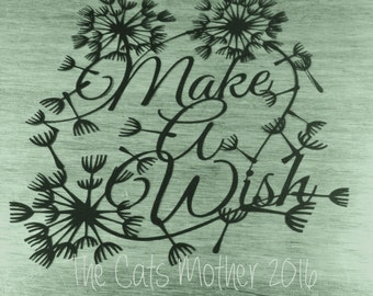 Make A Wish -  template for paper cutting - Personal And Commercial Use