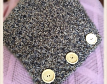 MADE TO ORDER Handcrafted Cowl Neck Scarf with Buttons