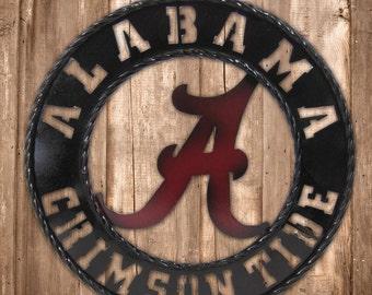 Alabama Crimson Tide, Alabama metal art, Crimson Tide, Roll Tide, Alabama football, Alabama wall art, Football gift