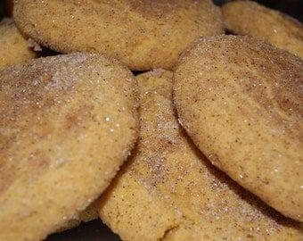 Pumpkin Snickerdoodles - One dozen, Easter Cookies, Easter Basket Filler, homemade, Pumpkin Cookies, Fall, Autumn, edible gift, baked goods