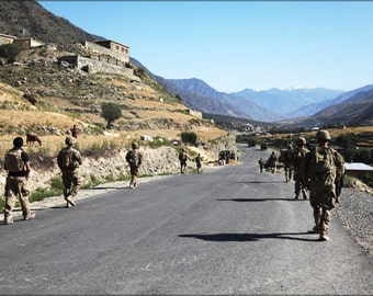 24x36 Poster . 4Th Infantry Division, Kunar Province Afghanistan 2012