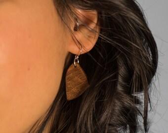 SperryMade Tripoint Walnut Earrings