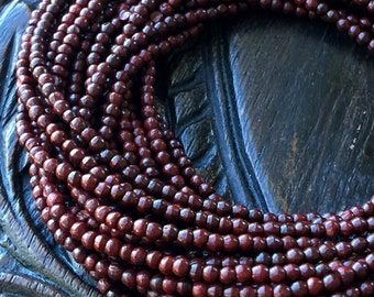 3mm Rosewood Bead Strand Layering Necklace Bead Strand FB1018