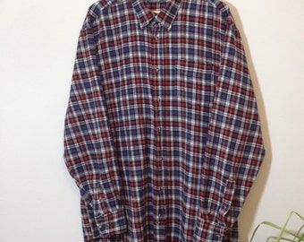 Vintage 90s Check Pattern Shirt