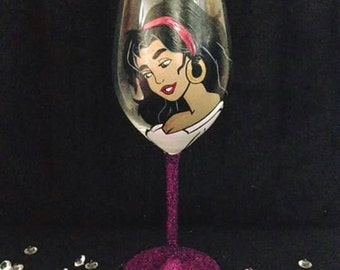 Esmerelda wine glass