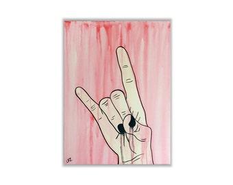 Rock N Roll - Original Pop Art Painting