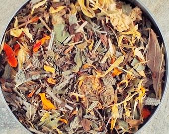 Healthy Detox Herbal Tea - dried tea - dried herbs - organic herbal teas - dried lemon balm - calendula - dried lemon Thyme