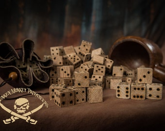 Pirate's Dice, Wooden Dice