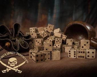 Pirate's Dice, Wooden Dice, Liar's Dice