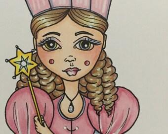 Digital stamp colouring image - OZ Glinda. jpeg / png