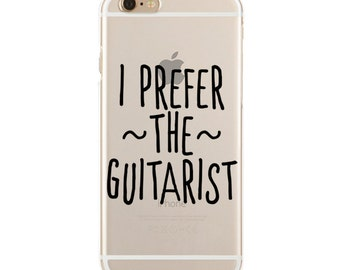I Prefer The Guitarist - Dibs On The Guitarist - Slim & Transparent case for iPhone - by HeartOnMyFingers - SLIMCASE-065