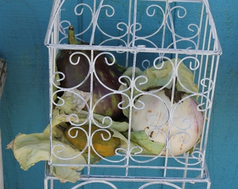 Vintage White Metal Plant Stands****Read Lisitng Before Purchasing