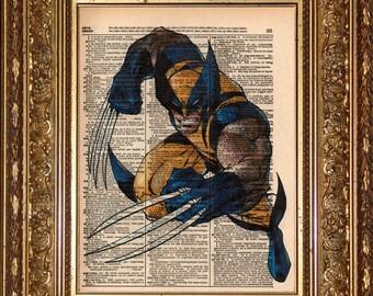 Wolverine Dictionary Print