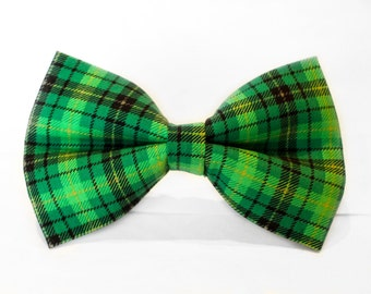 St Patricks Day Bow Tie, Plaid Bow Tie, Bowtie, Dog Bow Tie, Mens Bow Tie, Boys Bow Tie, Kids Bow Tie, Toddler Bow Tie, Bow Tie, For Him