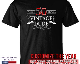 50th Birthday gift Aged 50 Years Vintage Dude Ttd1