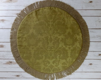 Damask Table Topper - Table Runner - Centerpiece - Round Table Runner - Holiday Decor - Gold Wedding Decor - Gold Table Decor - Home Decor