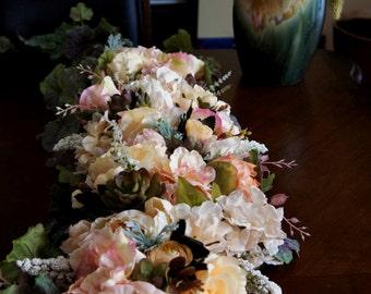 Extra Large Wedding Centerpiece Flowers, Arrangement Centerpiece, Silk Wedding Flowers, Peonies Centerpiece, Wedding Decor Flowers