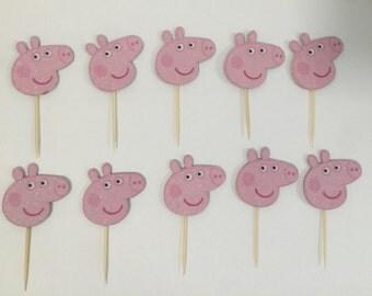 Peppa pig cupcake toppers (10)