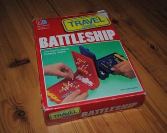 Battleship Travel - Strategy Game - Milton Bradley - 1989