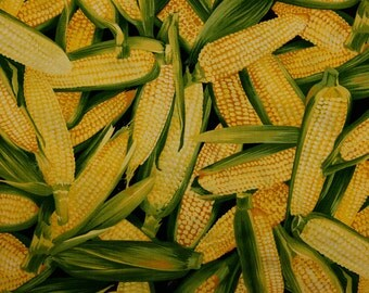 Corn On The Cob Quilting Fabric