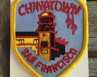 Chinatown San Francisco California Vintage Souvenir Travel Patch from Holm Patches