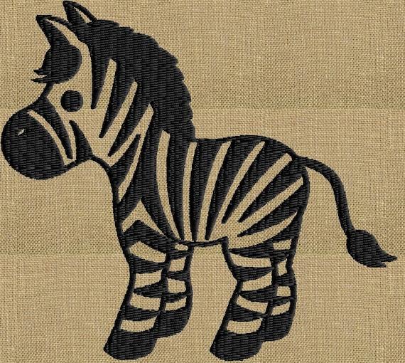 Zebra embroidery design file instant download exp jef