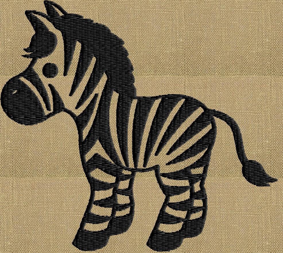 Zebra embroidery design file instant download exp jef vp
