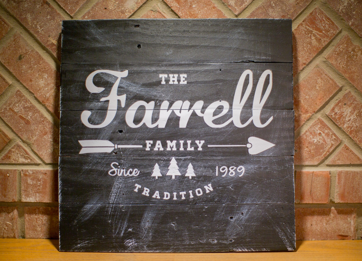 Established Family Home Decor Sign Reclaimed Wood Family