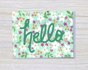 HELLO   A2 Size   Greeting Card   Everyday Card
