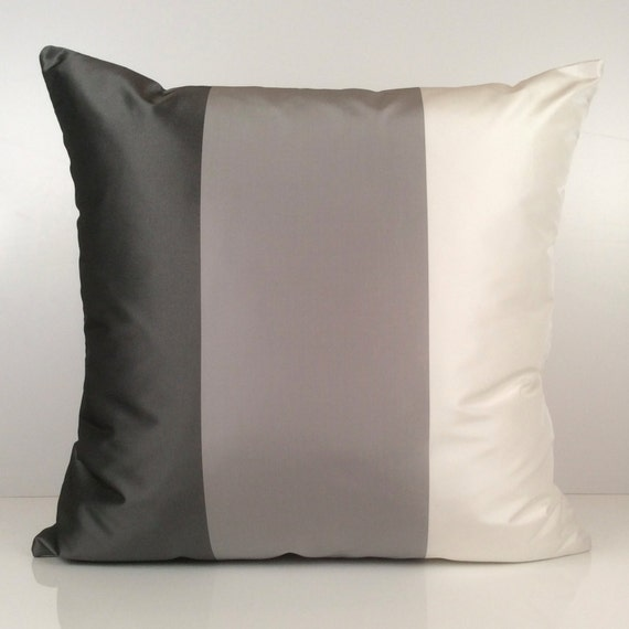 Light Grey Throw Pillow : Charcoal Light Grey White Pillow Throw Pillow Cover