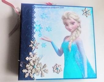 FROZEN scrapbooking mini album. Disney scrapbook. Scrap