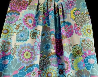 Kaffe Fassett dress, little girl, toddler, summer, blues, pinks--sizes 2 -5