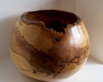 Hugh Milo Wood Bowl Sycamore  hand turned InTurn UK Woodturner home decor Woodturning