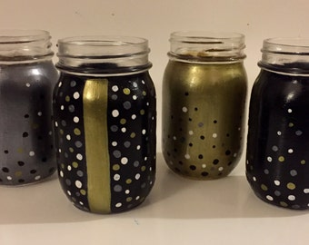 Hand Painted Mason Jar Glasses