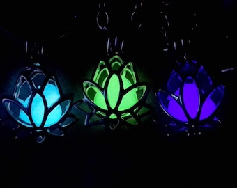 Glow in the Dark Locket Heart Necklace