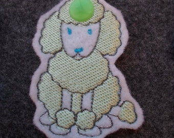 White Poodle key holder