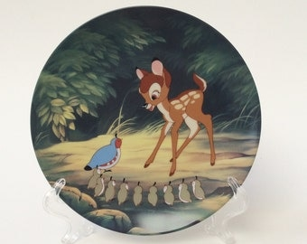 "Disney Bambi Plate, ""Bambi's Morning Greetings"", Knowles Collector Plate, Plate 4 in Series"
