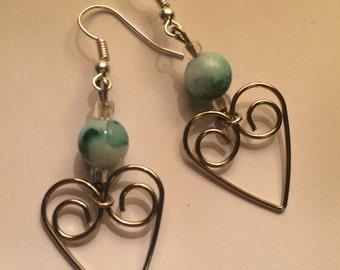 Heart Pendant Earring