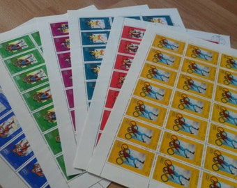 stamps, olympics, crafting, scrapbook or collecting