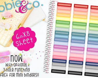 LS29 Skinny Pale Rectangular Boxes!  Set of 60 Perfect for the Erin Condren Planner!!!